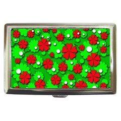 Xmas flowers Cigarette Money Cases