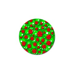 Xmas flowers Golf Ball Marker (4 pack)