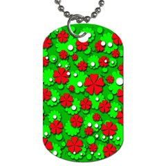 Xmas flowers Dog Tag (Two Sides)