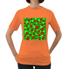 Xmas flowers Women s Dark T-Shirt
