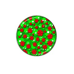 Xmas flowers Hat Clip Ball Marker (4 pack)