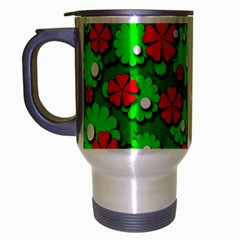 Xmas flowers Travel Mug (Silver Gray)