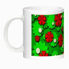 Xmas flowers Night Luminous Mugs