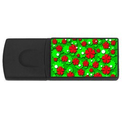 Xmas flowers USB Flash Drive Rectangular (4 GB)