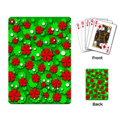 Xmas flowers Playing Card