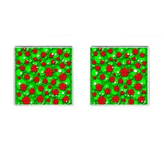 Xmas flowers Cufflinks (Square)