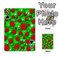 Xmas flowers Playing Cards 54 Designs