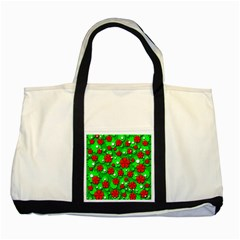 Xmas flowers Two Tone Tote Bag