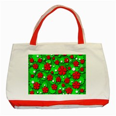 Xmas flowers Classic Tote Bag (Red)