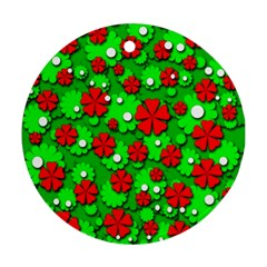 Xmas flowers Round Ornament (Two Sides)