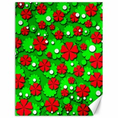 Xmas flowers Canvas 12  x 16
