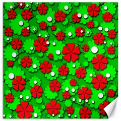 Xmas flowers Canvas 16  x 16