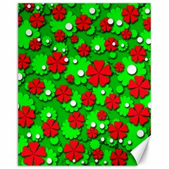 Xmas flowers Canvas 16  x 20