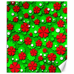 Xmas flowers Canvas 20  x 24
