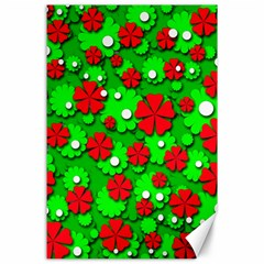 Xmas flowers Canvas 24  x 36