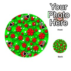 Xmas flowers Playing Cards 54 (Round)
