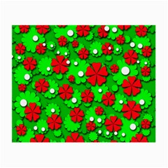 Xmas flowers Small Glasses Cloth (2-Side)