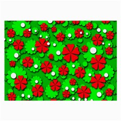Xmas flowers Large Glasses Cloth