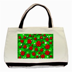 Xmas flowers Basic Tote Bag (Two Sides)