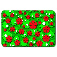 Xmas flowers Large Doormat