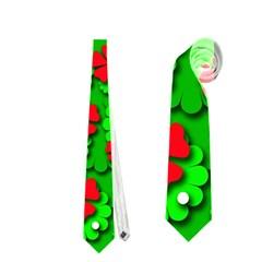 Xmas flowers Neckties (Two Side)