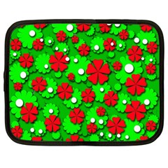 Xmas flowers Netbook Case (Large)