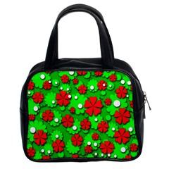 Xmas flowers Classic Handbags (2 Sides)