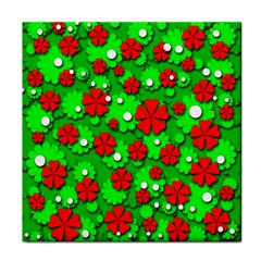 Xmas flowers Face Towel