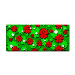 Xmas flowers Hand Towel