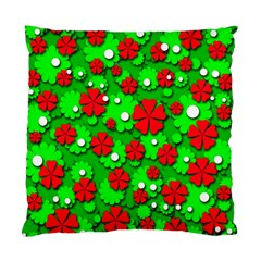 Xmas flowers Standard Cushion Case (One Side)