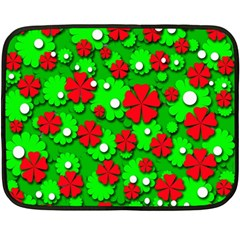 Xmas flowers Fleece Blanket (Mini)