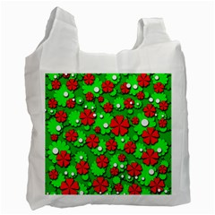 Xmas flowers Recycle Bag (One Side)