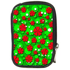 Xmas flowers Compact Camera Cases