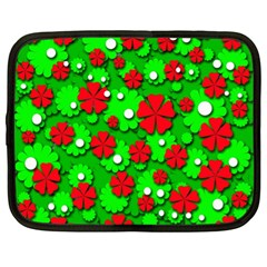 Xmas flowers Netbook Case (XL)