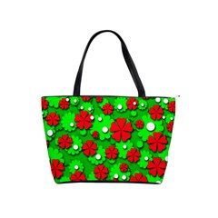 Xmas flowers Shoulder Handbags