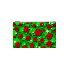 Xmas flowers Cosmetic Bag (Small)