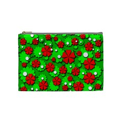Xmas flowers Cosmetic Bag (Medium)