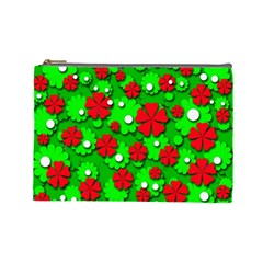Xmas flowers Cosmetic Bag (Large)