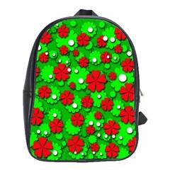 Xmas flowers School Bags(Large)