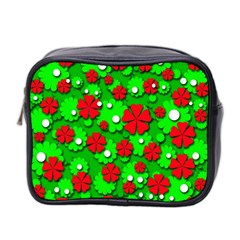 Xmas flowers Mini Toiletries Bag 2-Side