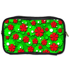 Xmas flowers Toiletries Bags 2-Side