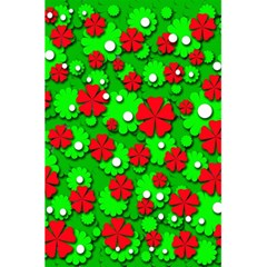 Xmas flowers 5.5  x 8.5  Notebooks