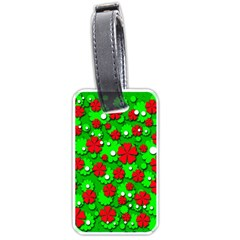 Xmas flowers Luggage Tags (One Side)