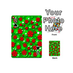 Xmas flowers Playing Cards 54 (Mini)