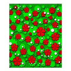 Xmas flowers Shower Curtain 60  x 72  (Medium)