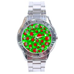 Xmas flowers Stainless Steel Analogue Watch
