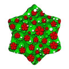 Xmas flowers Ornament (Snowflake)