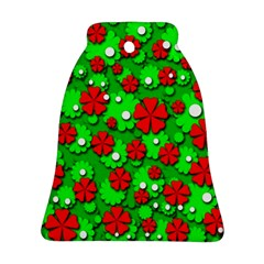 Xmas flowers Bell Ornament (2 Sides)