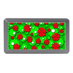 Xmas flowers Memory Card Reader (Mini)