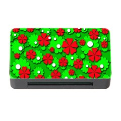 Xmas flowers Memory Card Reader with CF